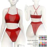 "Amataria - Lingerie Set ""Blush"" - red"