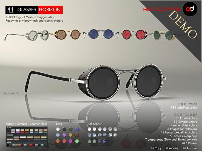 A&D Clothing - Glasses -Horizon- DEMOs