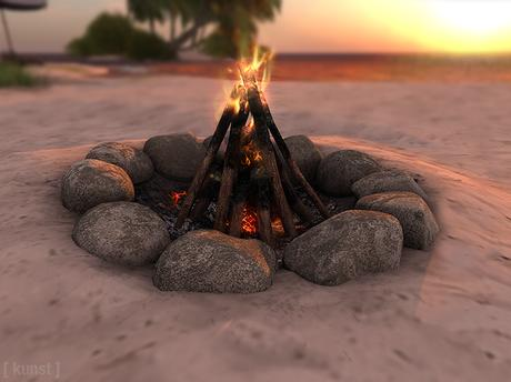 [ kunst ] - Beach bonfire