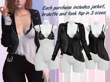 Lunar - Beck Jacket & Tank Top & Bralette - Black (Boxed)