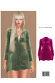 Bella Silk Blouse Dress [PINK] HG, BBL, 9S JESSICA, KATENA REGULAR, EBODY CURVY, LARA ::Kloss::
