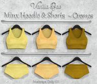 *Vanilla Bae* Minx Hoodie & Shorts - 3 Pack - Strip Me Collection - Maitreya