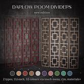 Raindale - Darlow room dividers