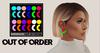 OUT OF ORDER - 80s Moon Earrings