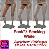 .HS. Pack*3 Stocking White BOM Inc