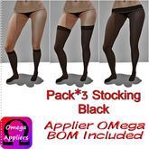 .HS. Pack*3 Stocking Black BOM Inc