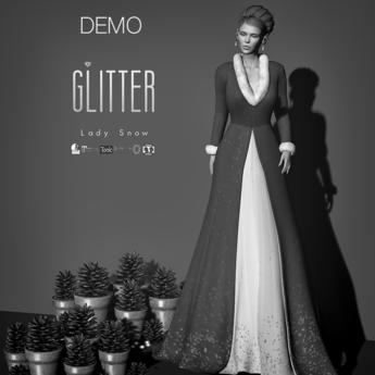 Glitter DEMO Lady Snow Fitmesh Long Coat