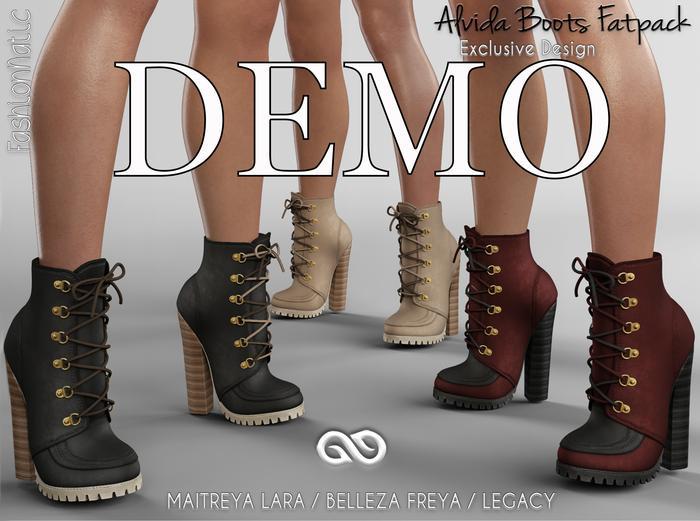 DEMO ALVIDA BOOTS FATPACK - MAITREYA - FREYA - LEGACY - FashionNatic