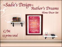 ~Sadie's Design~ Author's Dream Home Decor Set Bag