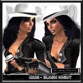 "EdelStore woman hair "" EL Paso "" black hair incl hat cowgirl western hair western hat Cowboy cowboyhut HUT cowgirls"