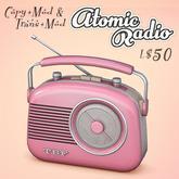 Atomic - Portable Transistor Radio Tuner - 11 Colors