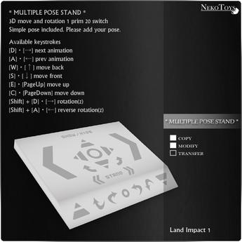 NekoToys - MULTIPLE POSE STAND