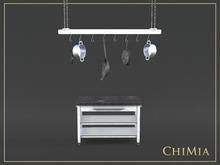 ChiMia:: Kitchen Trolley & Ladder Pan Rack