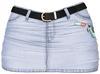 EVIE - Cold Freak Denim Skirt [Glacial]