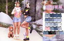 EVIE - Cold Freak Denim Skirt [Fatpack]