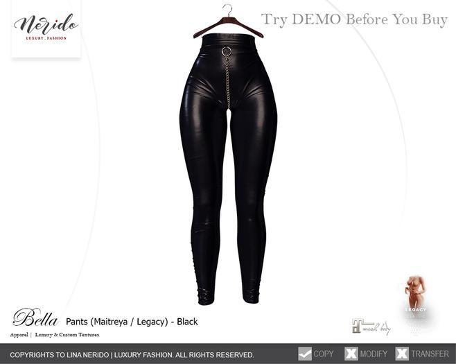 ~Nerido~ Bella Pants(Maitreya/Legacy)-Black
