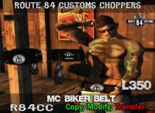 Route 84 Customs - MC Biker Belt