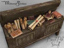 [MF] Medieval chest with scrolls and books (boxed)
