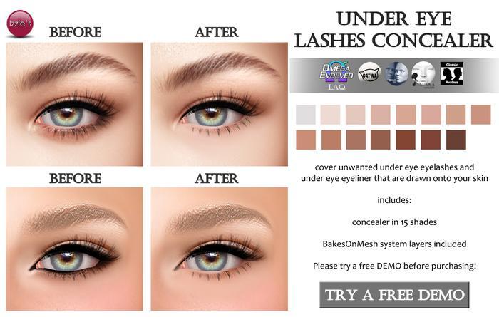 Izzie's - DEMO Under Eye Lashes Concealer