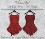 *Vanilla Bae* Delilah Dress - Red 2 Pack - Strip Me Collection - Maitreya / Freya / Legacy & Legacy Perky / HG