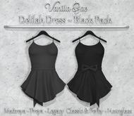 *Vanilla Bae* Delilah Dress - Black 2 Pack - Strip Me Collection - Maitreya / Freya / Legacy & Legacy Perky / HG