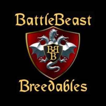"BattleBeast Breedables Dragon Egg ""Smokey Rose"""