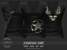 [JUSTICE] JONATHAN SHIRT - EBONY