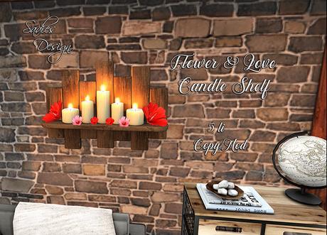 ~Sadie's Design~ Flowers & Love Candle Shelf