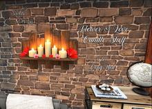 ~Sadie's Design~ Flowers & Love Candle Shelf Bag
