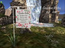 ~Sadie's Design~ Garden Rules Bag