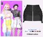 MIWAS / Lisa Zipper skirt #Black