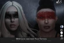 W:6 Celtic war paint Face Tattoos