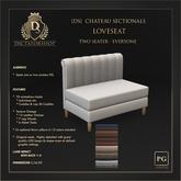 [Ds] CHATEAU Sectional Loveseat PG