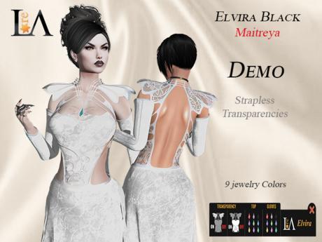 LA-Elvira Dress White  unpack  Demo