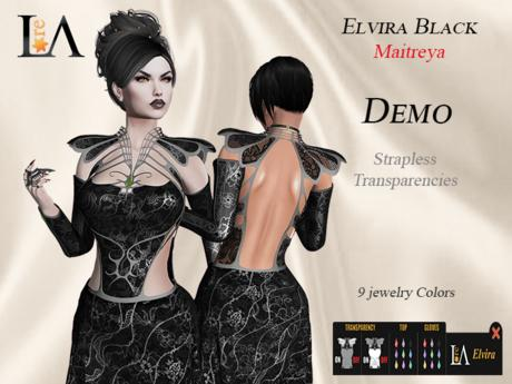 LA-Elvira Dress Black  unpack  Demo