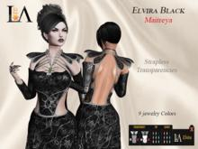 LA-Elvira Dress Black unpack