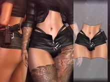 AsteroidBox. Iris Shorts - Black