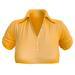 EVIE - ActiveBabe - Polo Crop Top - Orange