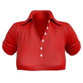 EVIE - ActiveBabe - Polo Crop Top - Red