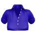 EVIE - ActiveBabe - Polo Crop Top - Blue