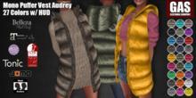 GAS [Mono Puffer Vest Audrey - 27 Colors w/HUD FATPACK]