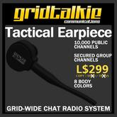 GridTalkie Tactical Earpiece Radio