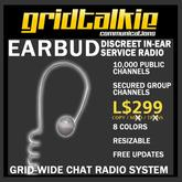 GridTalkie Earbud Wearable Radio