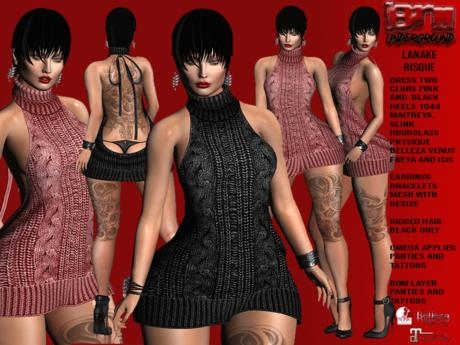 **LANAKE TWO COLORS RISQUE STYLE COMPLET OUTFIT** (WEAR)
