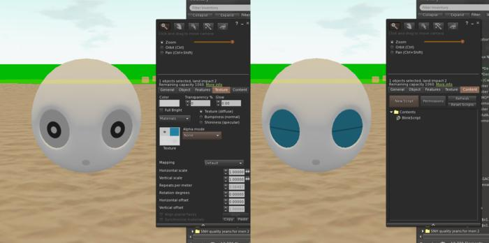 Round Head Blink Script with example texture