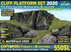 Max detail Cliff PLATFORMS SET 2020: Walkable Cliff Platforms for placing house higher and level up terrain