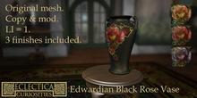 Eclectica Curiosities-Edwardian Black Rose vase