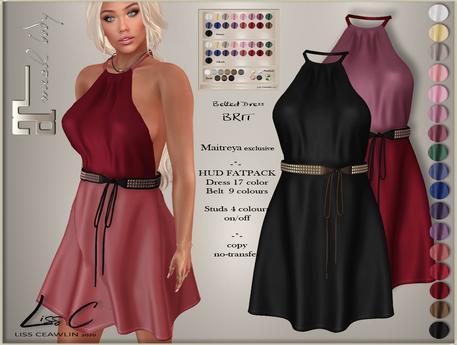 .:LC:. Brit Belted Dress  (box) #FATPACK