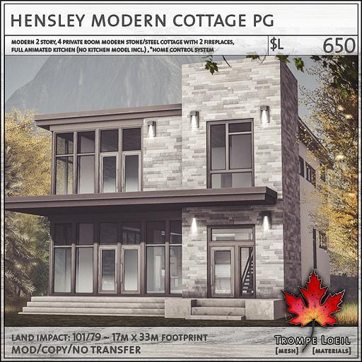 Trompe Loeil - Hensley Modern Cottage PG [mesh]