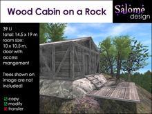 Wood Cabin on a Rock